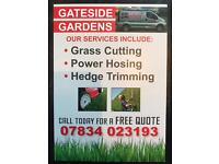 GRASS CUTTING HEDGE TRIMMING POWER WASHING BALLYCLARE GLENGORMLEY NEWTOWNABBEY
