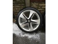 Genuine Vauxhall 19 inch alloys with good tyres