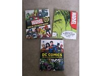 3 marvel and DC comic guides
