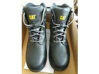 Mens Caterpillar steel toe cap boots, size 12, BNIB, black