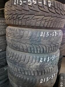 4 winter tires hankook 215/55r17 tt