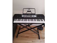 [SOLD] RockJam 54-Key Portable Digital Piano Keyboard with Music Stand and Interactive LCD Screen