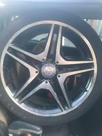 "Genuine Mercedes AMG 18"" 5 Double Spoke Alloy Wheels a b class"