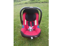 Preloved BRITAX Baby-Safe Plus SHR II Infant Carrier Group 0+ (Chili Pepper) RAINCOVER included