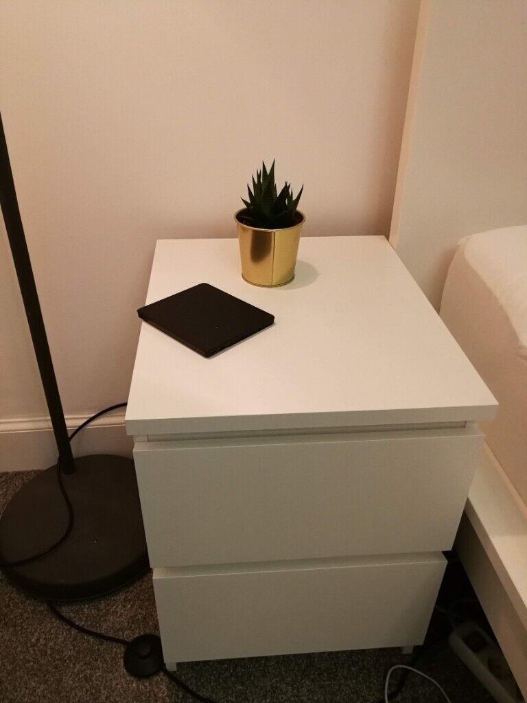 As New White Ikea Nightstand Malm Series In Pleasance Edinburgh Gumtree