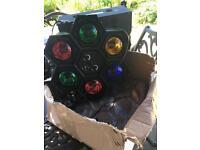 DJ kit - speakers, amp, lights etc.