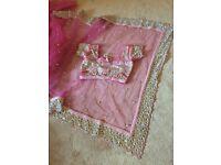 Pink net Sari, a beautiful Asian Party wear