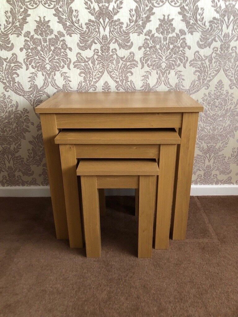 NEXT STANTON OAK EFFECT NEST OF TABLES | in Leicester ...