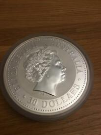 Collectible uncirculated 2007 Australian silver $30 dollars 1kg coin