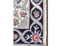 Pretty John Lewis Wool woven rug. 170 x 103cm