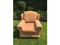 Damask armchair pink salmon collection from Penn Wolverhampton
