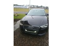 Black Audi A3 saloon