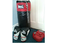 Lonsdale Punch Bag, strike mitts and Gloves