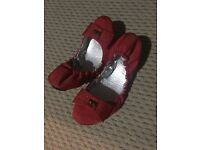 Red dolly shoes for sale size 5