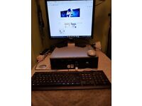 HP Compaq Desk Top Computer- Dell Monitor - Keyboard - Mouse