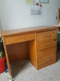 Vintage solid pine desk restoration project