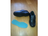 REDUCED - Brand new - Cosyfeet Mason size 8.5 (51) black leather extra-roomy shoes