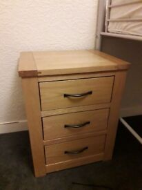 Pine Wood Double Wardrobe & Bedside Drawers