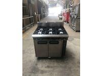 Blue Seal 6 Burner Gas cooker with Oven (Takeaway, Restaurant, Kebab shop)