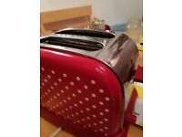 Red Polka dot toaster