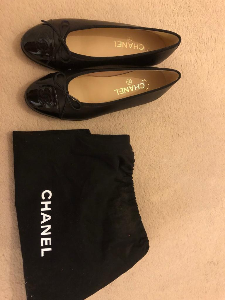 63a07ad539e Brand New Genuine Authentic Chanel Black Ballerina Flat shoes