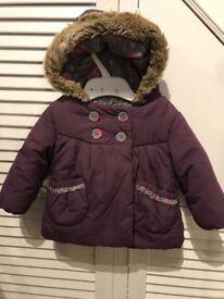 3-6 baby girl winter jacket