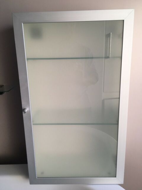 Bathroom Cabinet With Frosted Gl