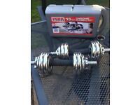 York dumbells 15kg set