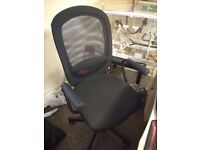 Desk chair (IKEA Flintan) black with pads