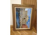 Lovely large picture in frame