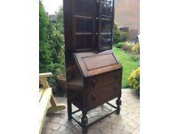 Vintage Art Deco 1920's dresser/bureau/ Iconic furniture glazed leaded panes..
