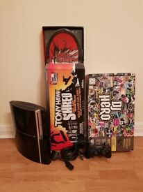 PS3 - Sony Playstation 3 (1 Controller, Tony Hawk Shred with Skateboard & DJ Hero)
