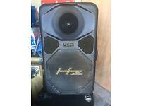 HZ powered speakers.
