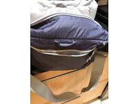 Purple coloured padded spacious camera bag, as new. £10