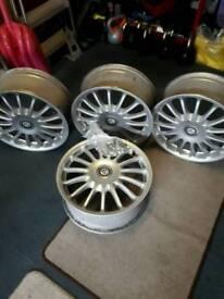 "MG ZR 17"" straights alloy wheels"