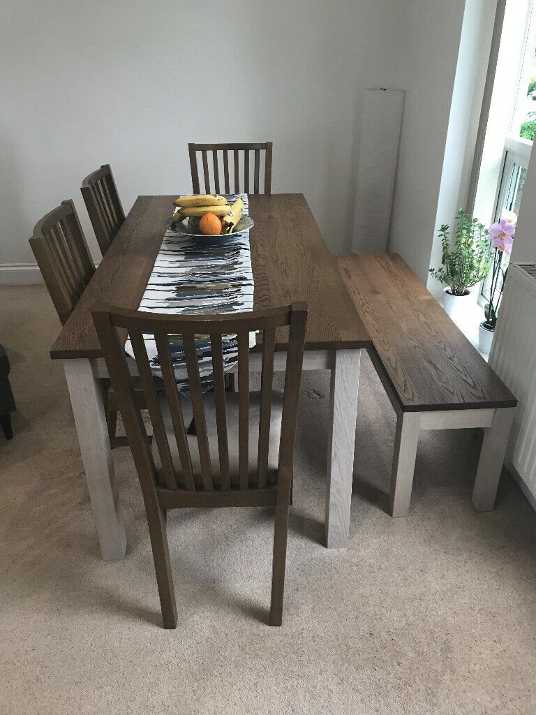 Admirable Ikea Oak Kejsarkrona Dining Table With Bench And 4 Norrnas Chairs Brown In Acton London Gumtree Customarchery Wood Chair Design Ideas Customarcherynet