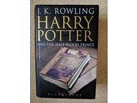 Harry Potter and the Half Blood Prince hardback First edition with rare errors by J K Rowling