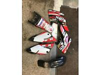 Crf70 size pit bike m2r plastics