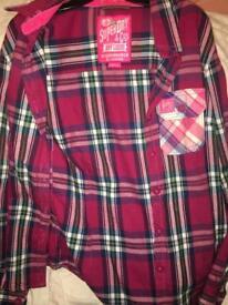 Pink Superdry shirt