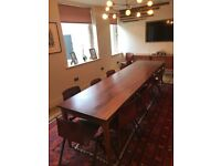 10 seats dining table + 10 Thur-Op-Seat chairs