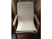 Two Cream Covered Ikea Armchair For Sale!