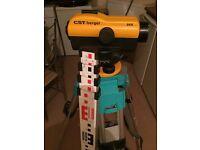 CST BERGER 24X DUMPY LEVEL / AUTO LEVEL / OPTICAL LEVEL - FULL SITE KIT