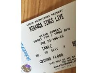 2 Miranda Sings tickets for sale dublin *face value* 23rd august