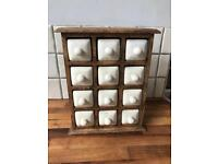 Beautiful Set of Ceramic Spice Drawers