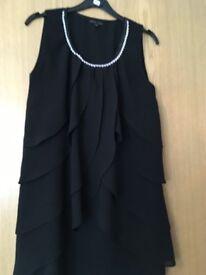 Black waterfall dress size 10