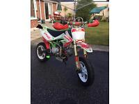 Custom build 2016 road legal pitbike