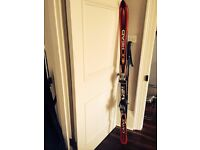 Skis, Bindings and Poles - HEAD Carve X 170cm w/125cm Smith Poles
