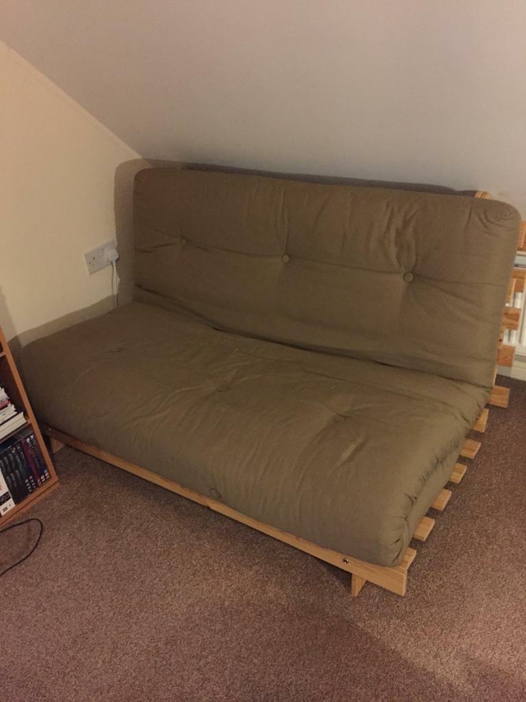 best loved 7dbf1 92ef8 Double wooden futon sofa bed | in Ipswich, Suffolk | Gumtree