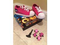 Pink Heelys size 13 - Look brand new.