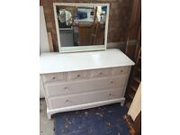 dressing table/drawers shabby chic stag minstrel